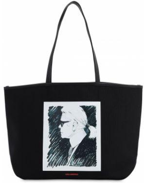 Кожаная сумка с леопардовым принтом сумка-тоут Karl Lagerfeld