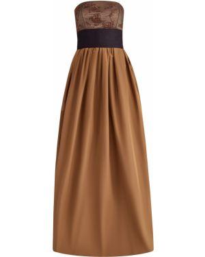 Платье макси из поплина с поясом Brunello Cucinelli
