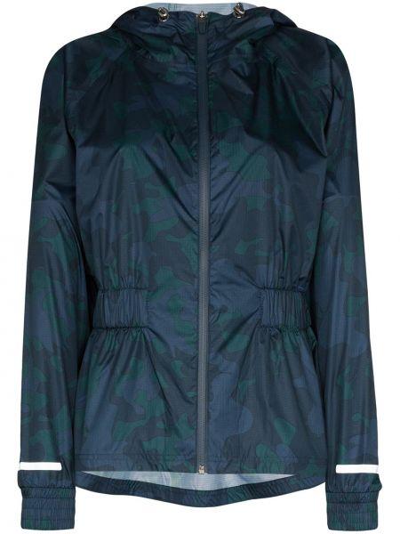 Синяя спортивная куртка летучая мышь на молнии с поясом Sweaty Betty