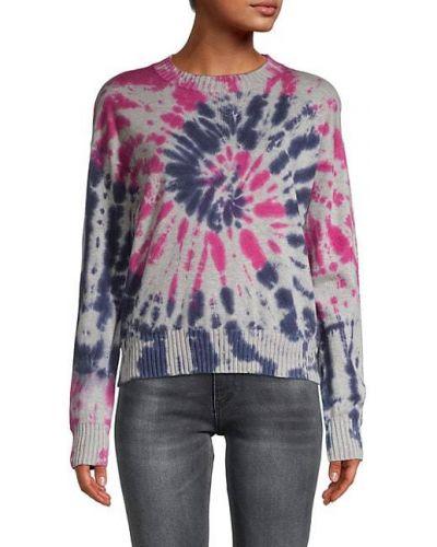 Różowy długi sweter bawełniany z długimi rękawami Central Park West