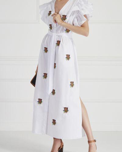 Платье с вышивкой сафари KatЯ DobrЯkova