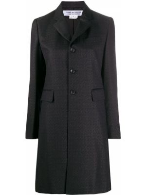 Шерстяное черное пальто с капюшоном Comme Des Garçons Comme Des Garçons