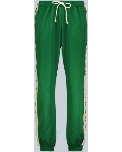 Zielone joggery bawełniane vintage Gucci
