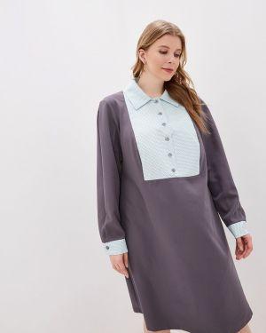 Повседневное платье серое осеннее Jp