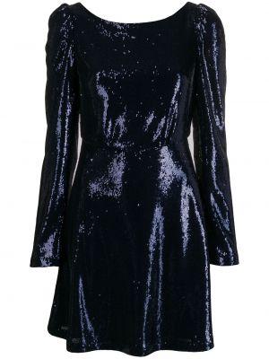 Коралловое платье мини с пайетками с V-образным вырезом на молнии Black Coral