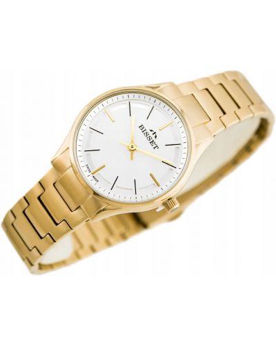 Żółty klasyczny złoty zegarek Bisset