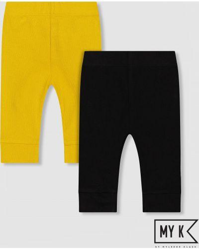 Леггинсы желтый черные Mothercare