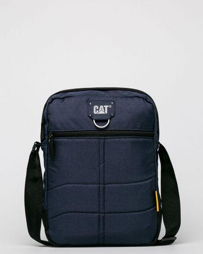 Текстильная сумка через плечо - синяя Caterpillar