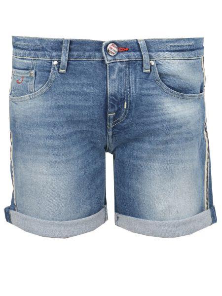 Джинсовые шорты с воротником со стразами с карманами на пуговицах Jacob Cohen