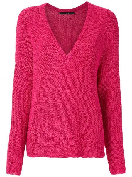 Трикотажный пуловер - розовый Eva