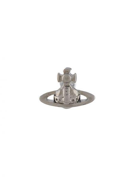 Серебряные серьги металлические с бабочкой Vivienne Westwood