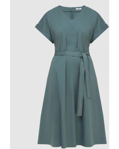 Бирюзовое платье миди Peserico