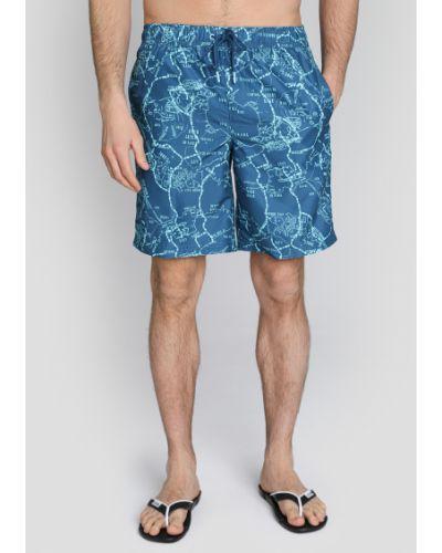 Синие пляжные плавки-боксеры с карманами O'stin