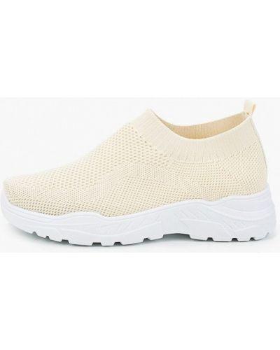 Текстильные бежевые кроссовки Go-go