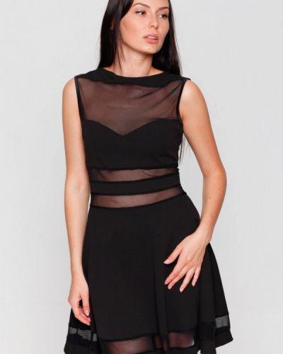 Вечернее платье осеннее черное Karree