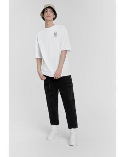 Зауженные черные широкие джинсы с карманами Ostin