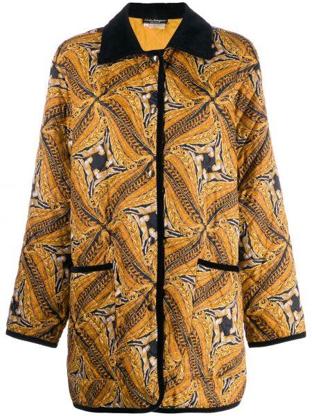 Нейлоновое пальто классическое с капюшоном Salvatore Ferragamo Pre-owned