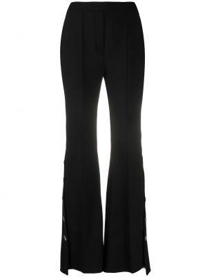 Расклешенные шерстяные черные брюки •ellery•