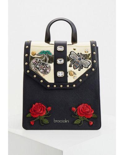 Черный рюкзак Braccialini