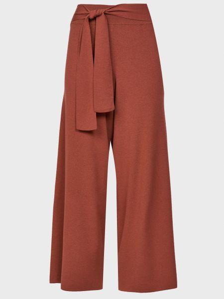 Коричневые брюки из вискозы Kontatto