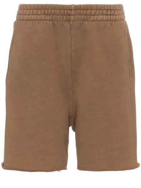 Brązowe krótkie szorty bawełniane Yeezy