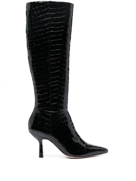Черные кожаные сапоги на каблуке Schutz