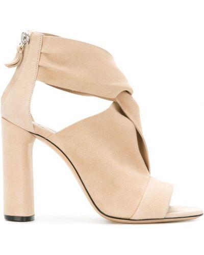 Сандалии на шнуровке на молнии кожаный Casadei