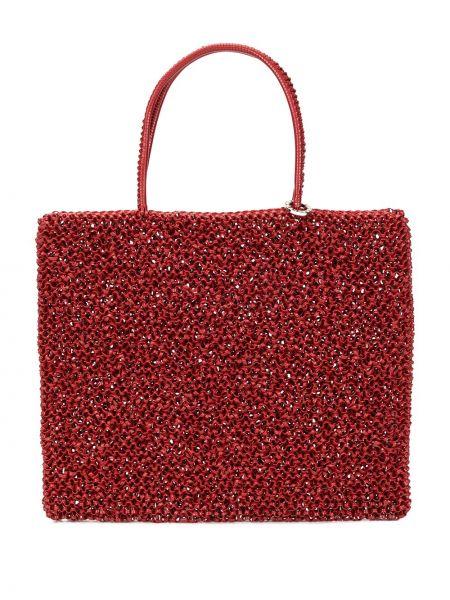 Красная сумка-тоут круглая Anteprima