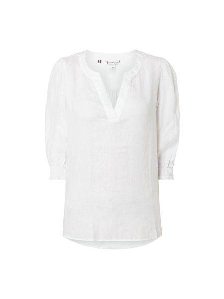 Z rękawami biały bielizna bluzka z kołnierzem Tommy Hilfiger