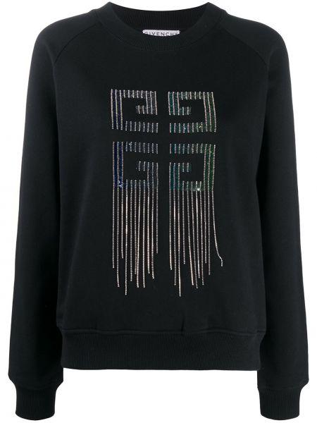Bawełna czarny bluza z długimi rękawami przycięte Givenchy