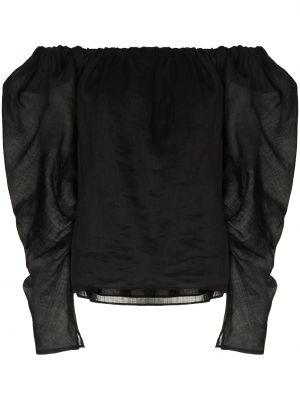 Блузка с открытыми плечами - черная Frame