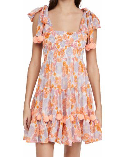 Платье в цветочный принт из вискозы на резинке Sundress
