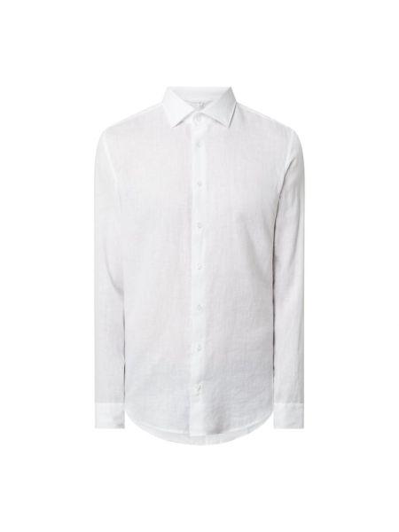 Biała koszula slim z długimi rękawami Seidensticker