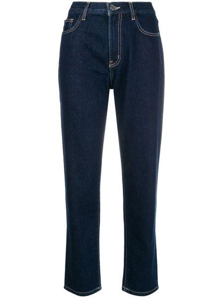 Синие пляжные джинсы с высокой посадкой с карманами в стиле бохо Current/elliott