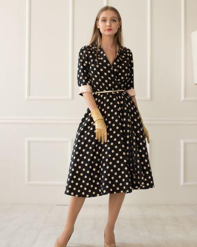 Платье с запахом - черное Golda