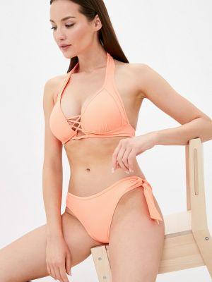 Оранжевый купальник с воротом халтер Winzor