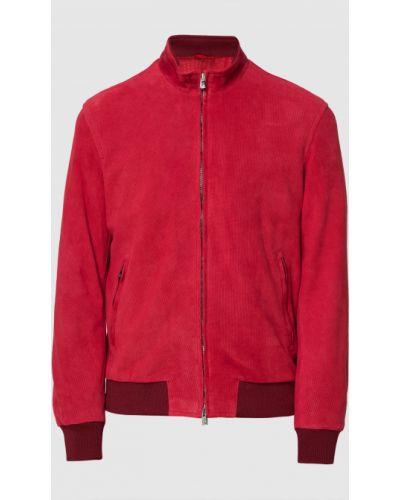 Замшевая куртка - красная Isaia
