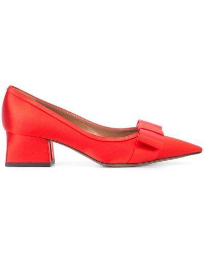 Туфли на низком каблуке с бантом кожаные Marni
