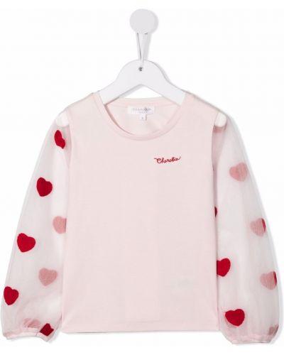 Różowa koszulka z printem Charabia