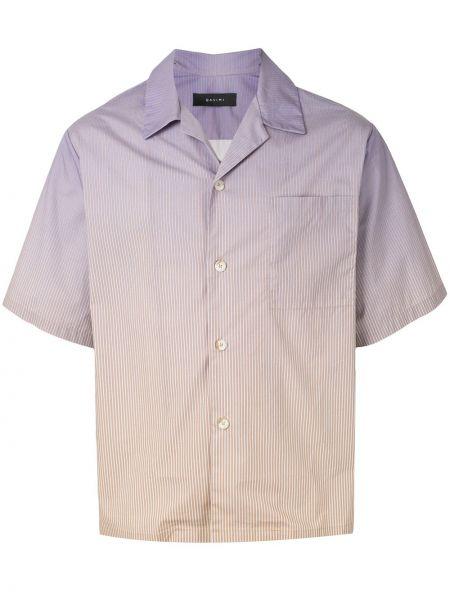 Koszula krótkie z krótkim rękawem klasyczna z paskami Qasimi