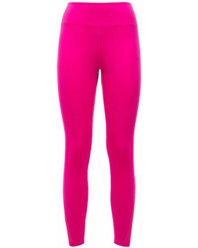 Różowe legginsy z siateczką Nike