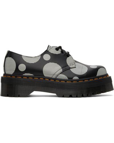 Белые туфли с круглым носком Dr Martens