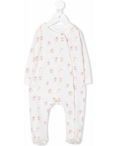 Piżama z długimi rękawami - biała Studio Clay