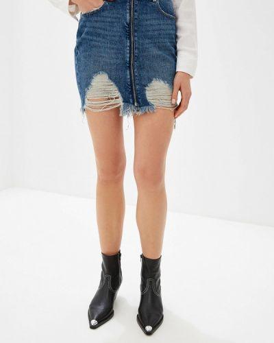 Джинсовая юбка синяя Guess Jeans
