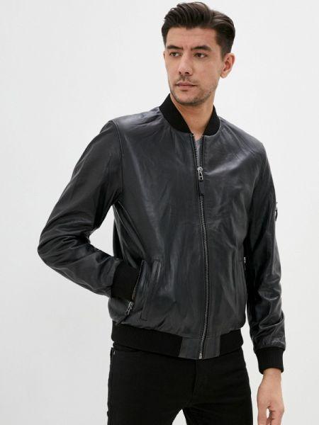 Кожаная куртка - синяя Giorgio Di Mare