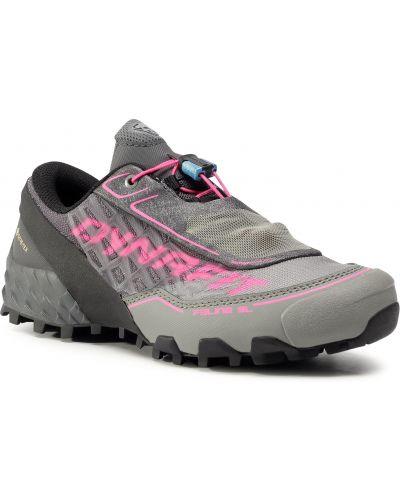 Szare buty sportowe na obcasie Dynafit