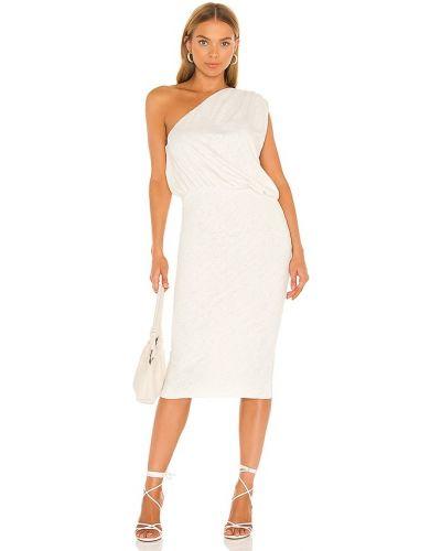 Белое платье на одно плечо Lna