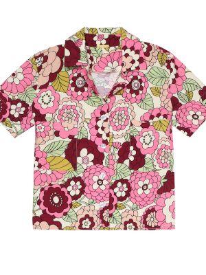Różowa koszula z wiskozy Dodo Bar Or Kids