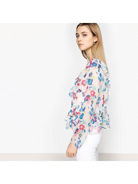 Блузка с длинным рукавом с цветочным принтом прямая Pepe Jeans
