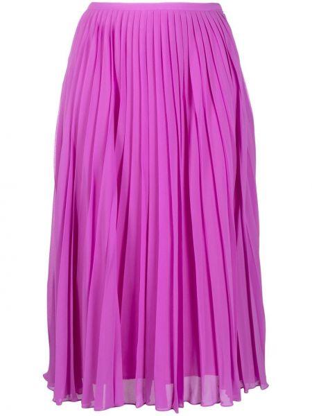 Розовая плиссированная юбка миди из вискозы Essentiel Antwerp